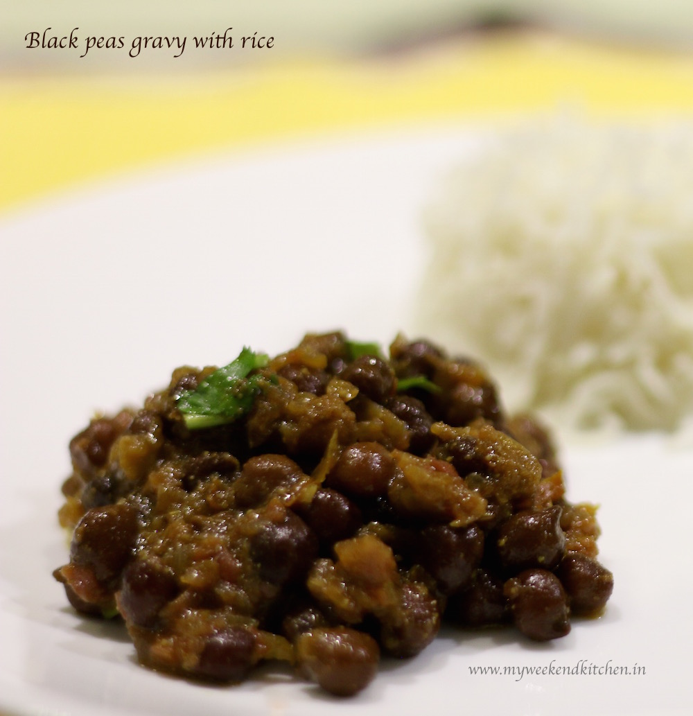 Kala Chana Curry (Black Chickpeas Gravy)