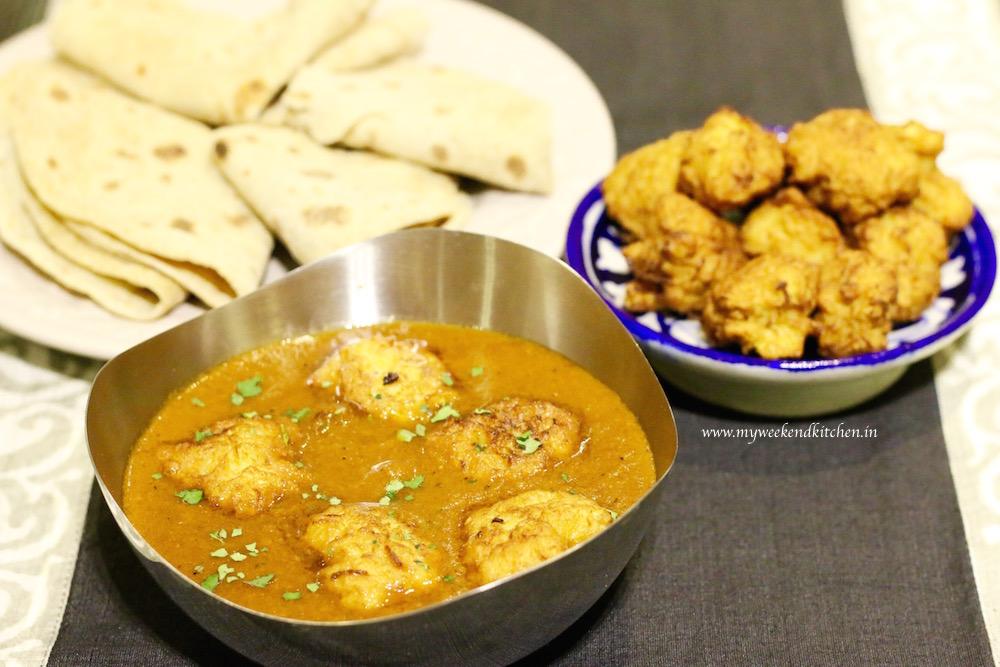 lauki ke kofte, fried bottle gourd dumpling curry
