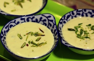 Saffron and Milk pudding