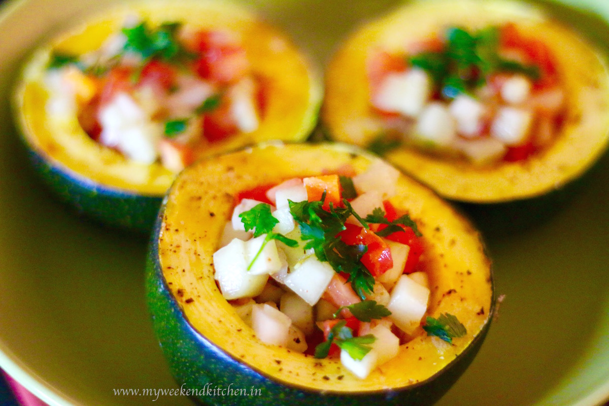 gem squash recipe, chunky salsa recipe