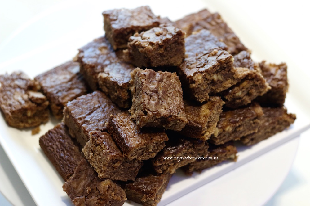 Chocolate walnut brownie recipe, cooking with kids, baking with chilldren