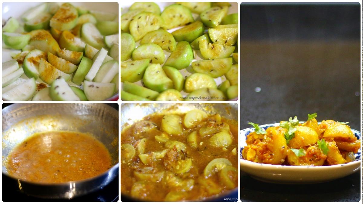 step by step recipe of tinde tamatar ki sabzi