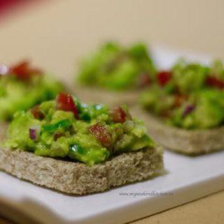 Avocado bruschetta breakfast