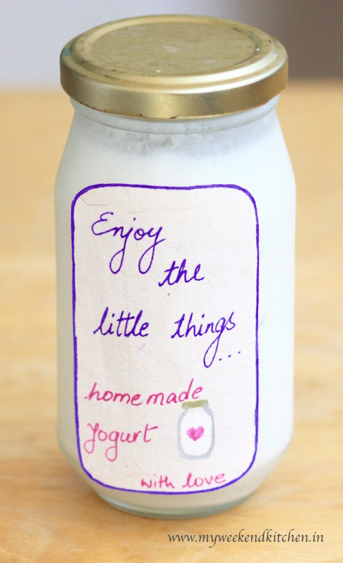 How to make yoghurt at home without a yoghurt maker