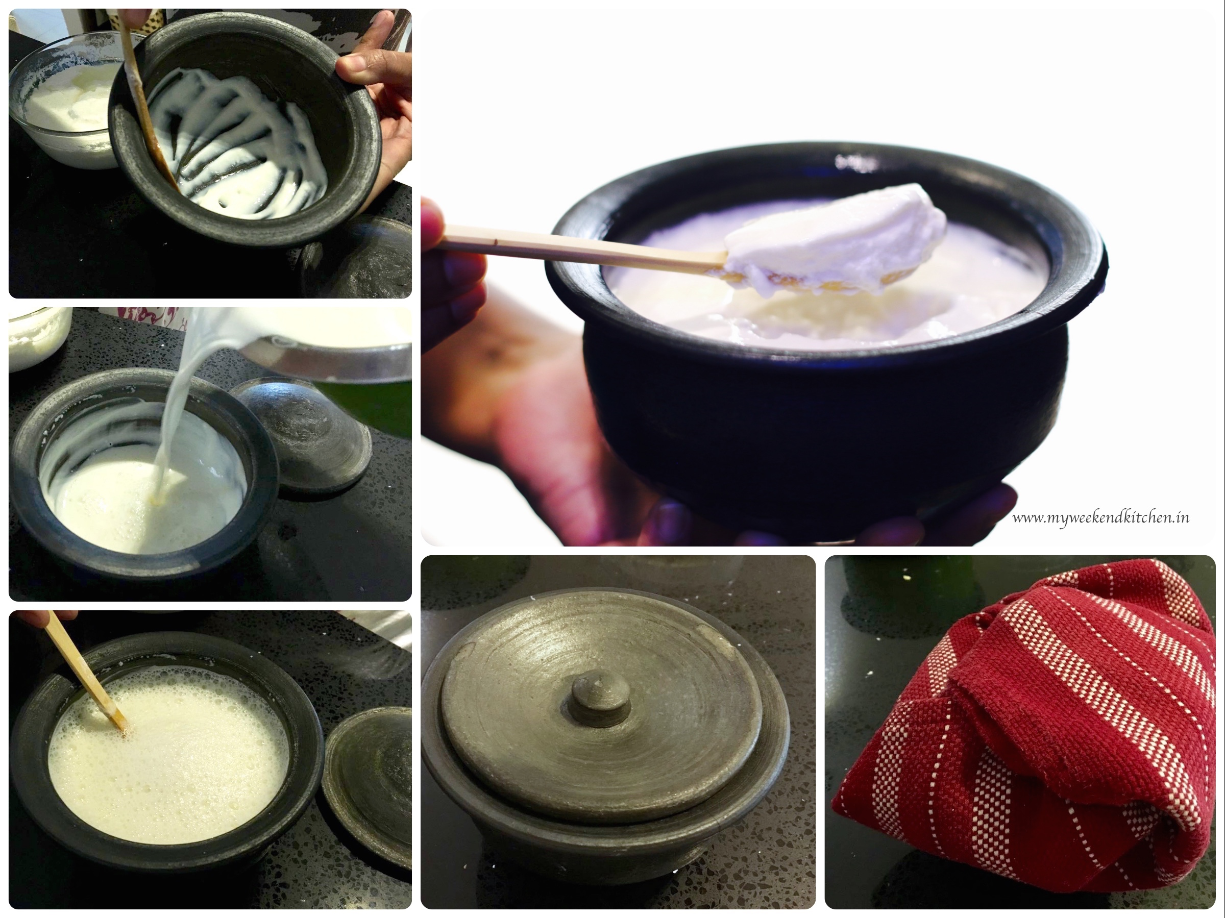 step by step photos for making yogurt at home