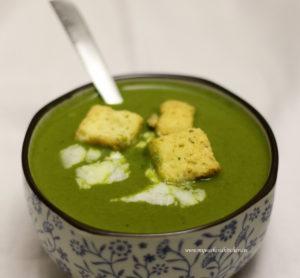 cream of spinach soup, palak ka shorba