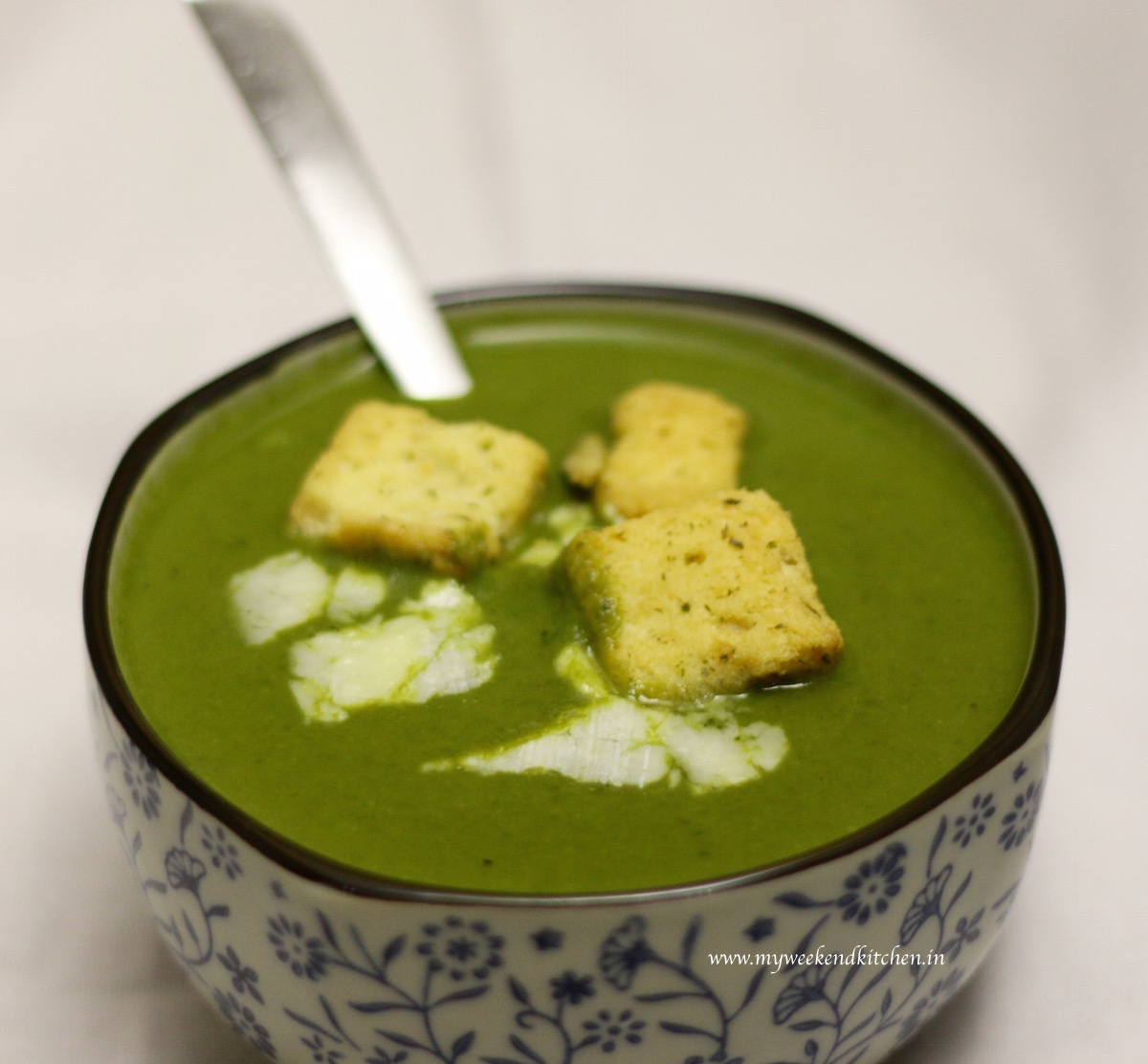 cream of spinach soup, palak ka shorba