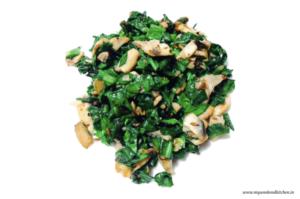 spinach mushroom stir fry, spinach mushroom and garlic stir fry
