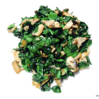Spinach mushroom stir fry