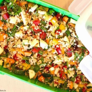 vegan quinoa salad, summer salads for lunch, refreshing lunchbox ideas