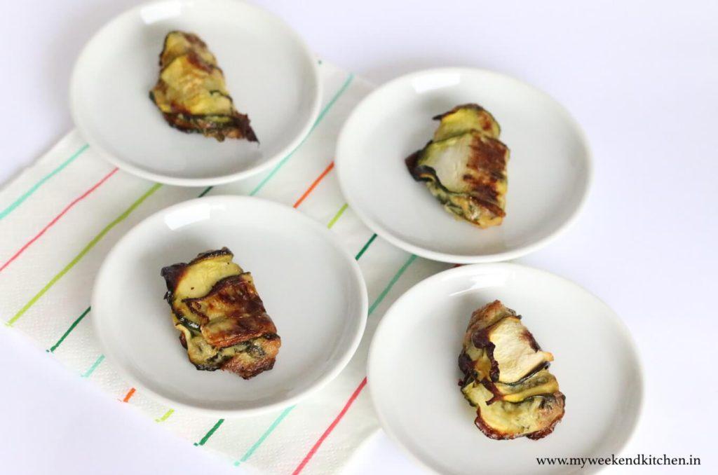 zucchini wrapped gluten-free spanakopita