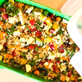 vegan quinoa salad recipe for summer lunch box