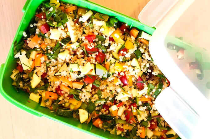 vegan quina salad recipe for summer lunch box