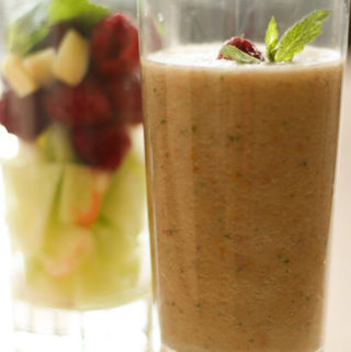 Raspberry Melon Smoothie | Fruit Smoothie