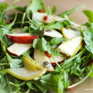 Arugula Salad with Apple and Pear