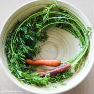 Carrot tops recipe, Carrot leaves pesto recipe, carrot tops edible