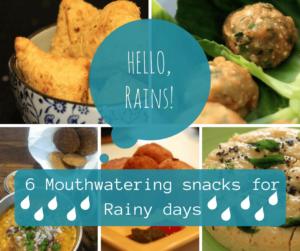 Ideas for snacks for rainy season, monsoon snacks, snacks for rainy days