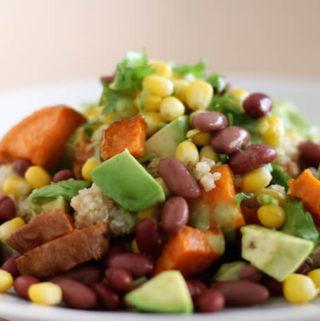 Sweet Potato Salad with Avocado dressing