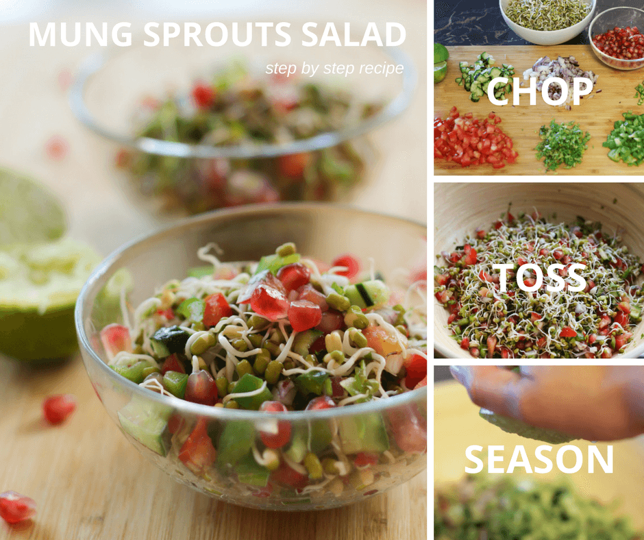Quick and healthy moong dal sprouts salad