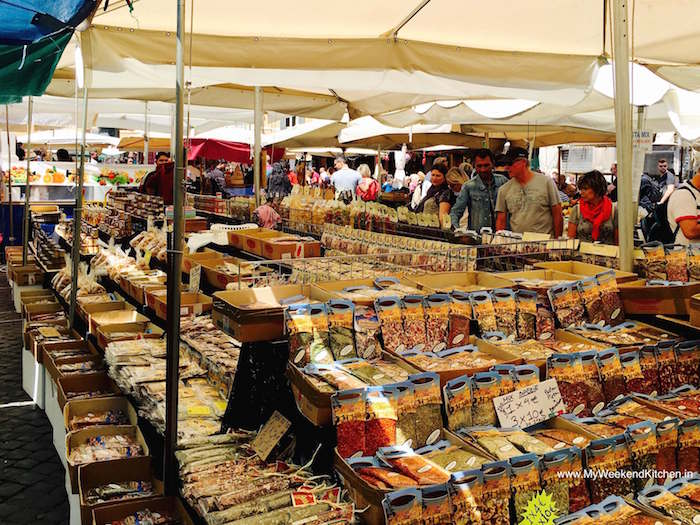 Food Market at Campo de Fiori Rome