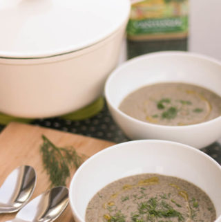 Cream of mushroom soup – vegan & GF