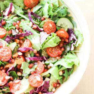 raw vegan salad meal