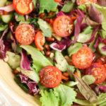 raw vegan salad recipe, low cal vegetable detox salad