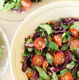 Raw Vegetable Salad – vegan rainbow
