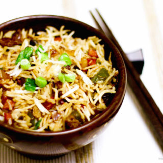 Veg Fried Rice : Quick and Healthy