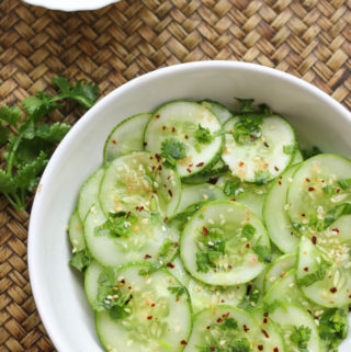 Asian Cucumber Salad in Vinegar sauce