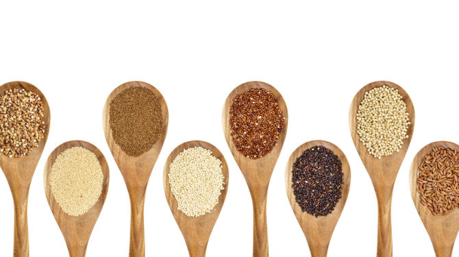 Millets, gluten-free grains and other grains names in English and Hindi