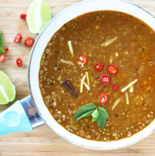 Sabut moong dal/ Green Mung beans curry
