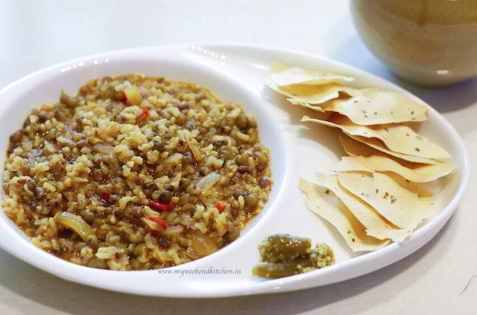 moon bean lentil and brown rice casserole, brown rice khichdi