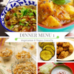 Diwali dinner idea - Vegetarian and vegan dinner party menu