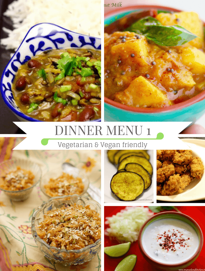 Diwali dinner idea - Vegetarian and vegan dinner party menu