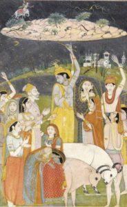 Krishna holding Mount Govardhan - Annakoot festival
