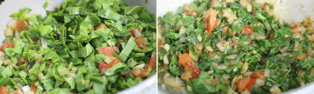 Spinach dal step by step recipe - add tomatoes & spinach