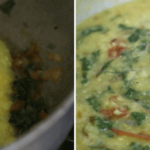 spinach dal step by step recipe - add the cooked dal