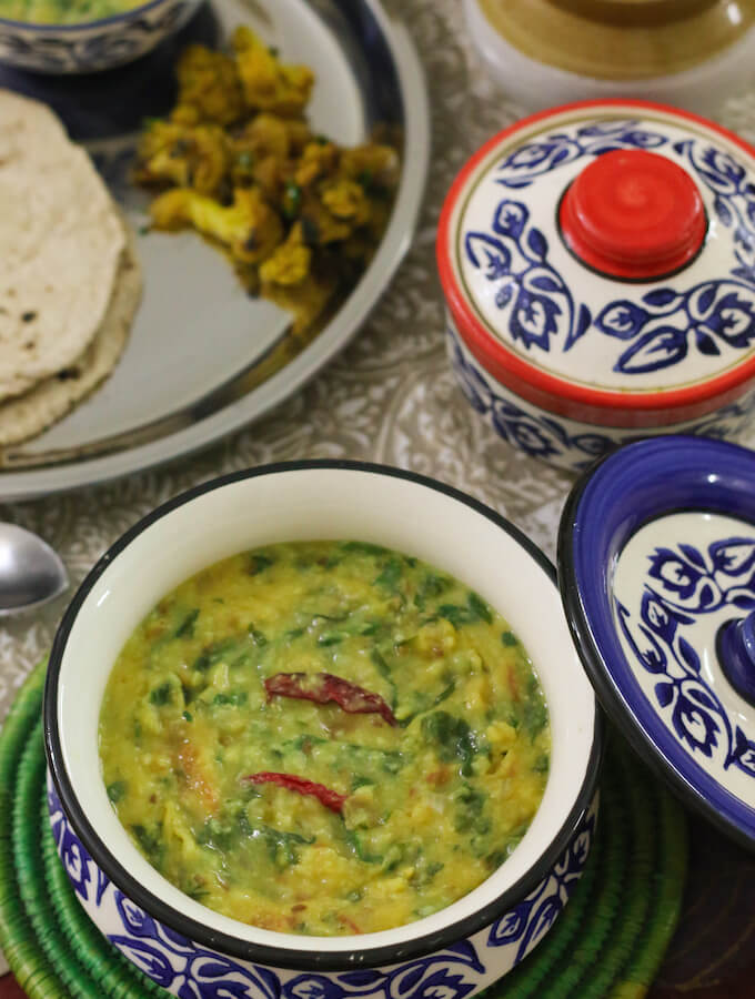 dal palak recipe, Indian spinach dal, spinach lentils