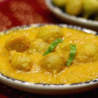 Mangodi sabzi | Moong dal dumpling curry
