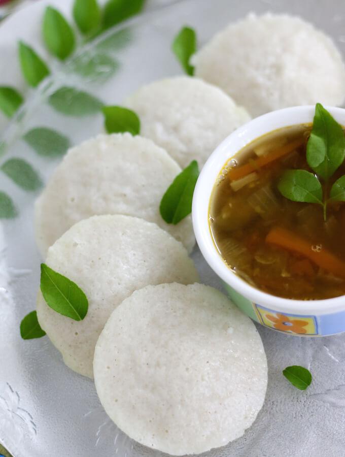 rice idli recipe with homemade rice and lentil idli batter