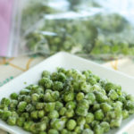 frozen peas - a simple recipeto preserve fresh green peas in season