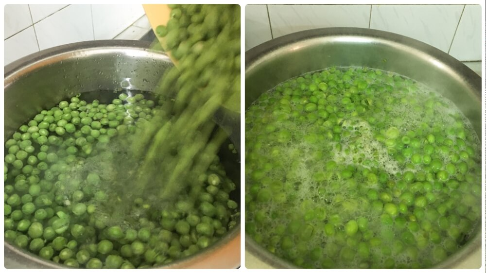 how to preserve fresh green peas at home