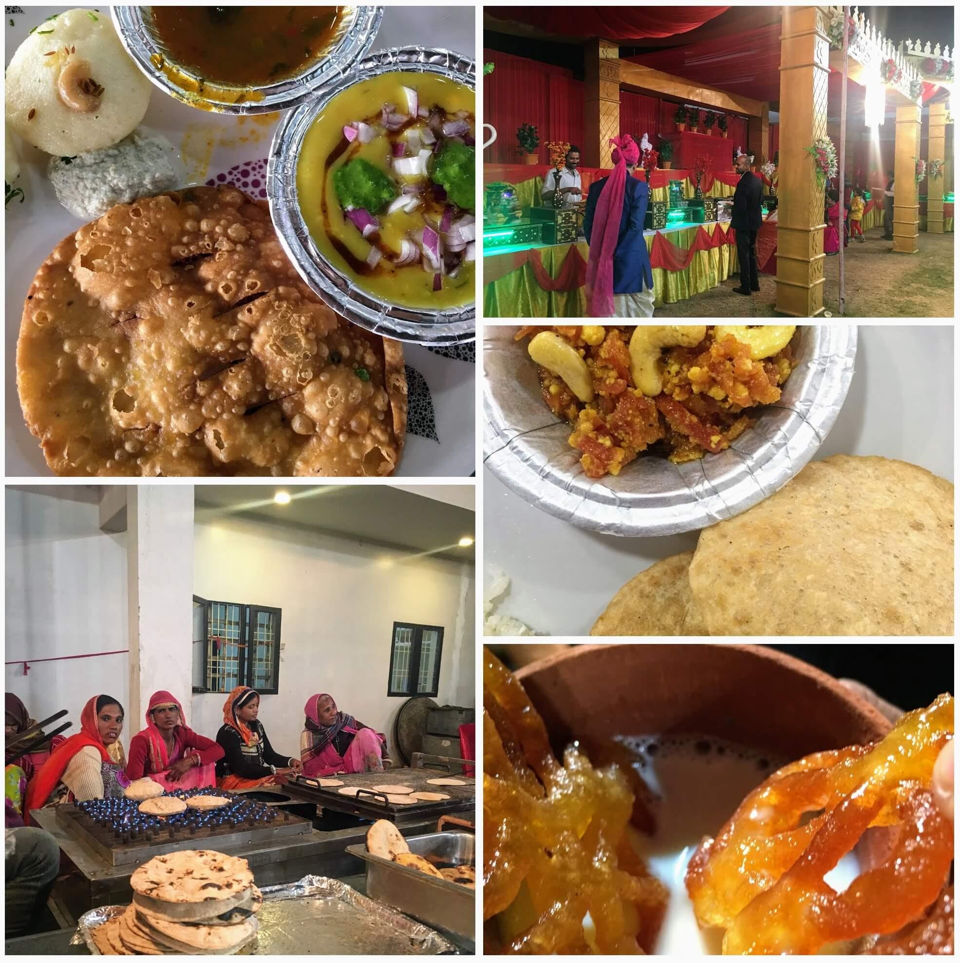 Rajasthani wedding food, Indian wedding