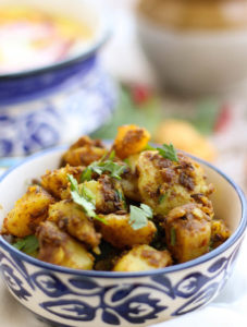 aloo ki sabzi, dry potato vegetable fry