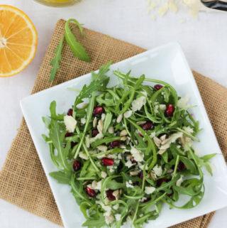 Arugula Parmesan Salad with lemon dressing