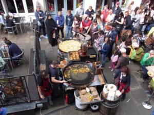 paella stall at Covent Garden