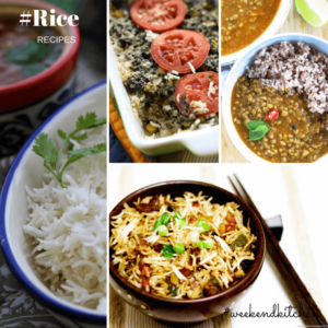 collection of Indian rice recipes