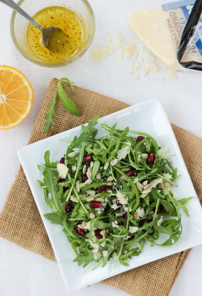arugula salad with parmesan and lemon dressing