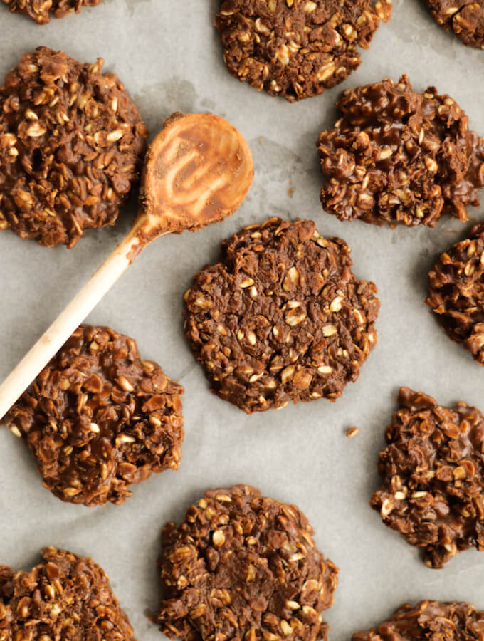 gluten free oats and nutella cookies, no-bake cookies with oats and chocolate spread